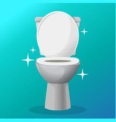 White ceramics toilet bowl icon modern vector