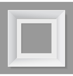 White frame isolated on gray background vector image