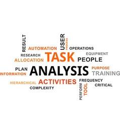 Word cloud task analysis vector