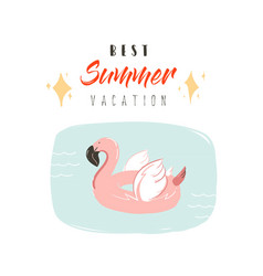 hand drawn abstract summer time fun vector image vector image