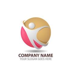 Human Technology Logo vector image vector image