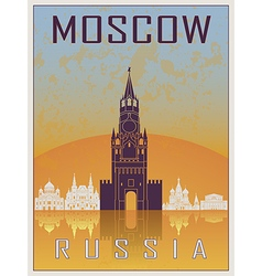 Moscow Vintage Poster vector image vector image