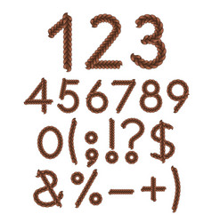 numbers and signs of braids vector image vector image