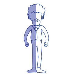 Silhouette man with beard and elegant clothes vector