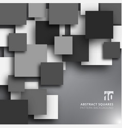 abstract overlapping square black and white color vector image