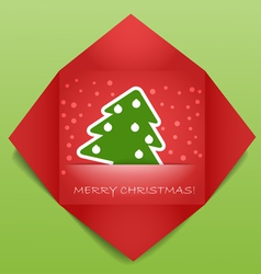 Color polygonal christmas greeting card vector image vector image