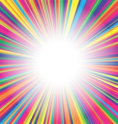 Colorful burst background vector image vector image
