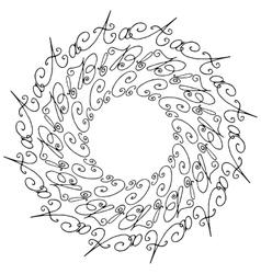 Hand Drawn Circle Background vector image vector image