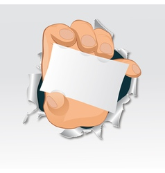 hand tear paper vector image