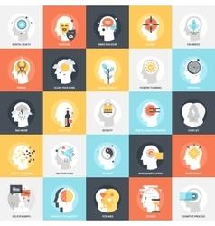 Human Psychology Icons vector image vector image
