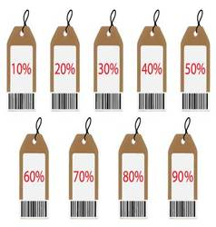 Label with discount vector image