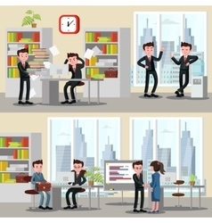 Office People Horizontal Banners vector image vector image