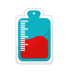 red blood donation bag transfusion vector image