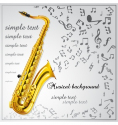 saxophone music background vector image vector image
