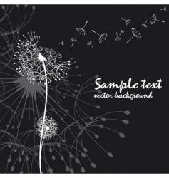 Abstract dandelion vector