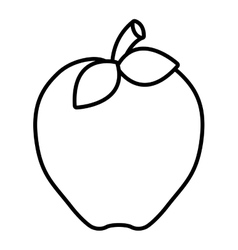 apple animation graphic vector image
