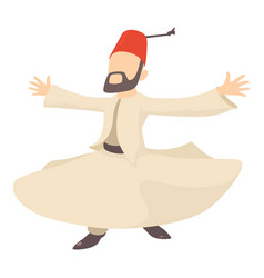 arabic man icon cartoon style vector image vector image