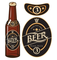 beer bottle with a label vector image vector image