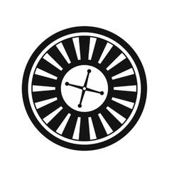 Casino symbol roulette icon vector image vector image