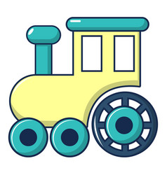 children train for walks icon cartoon style vector image