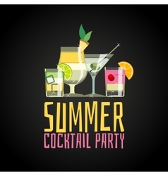 Cocktail summer party vector image
