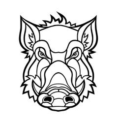 Head of boar mascot design vector image vector image