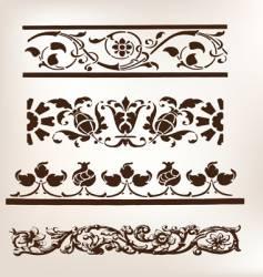 set of vintage design boarders vector image vector image