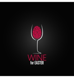 wine easter design background vector image