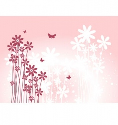 flower back pink vector image