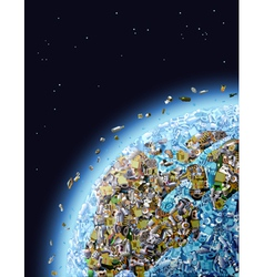 Global Pollution vector image