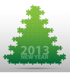 New year tree and decorations background vector image vector image