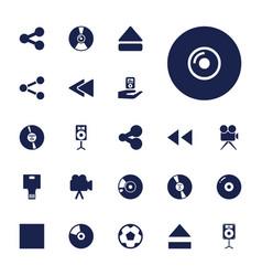 22 multimedia icons vector