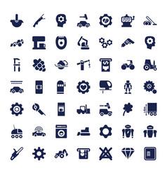 49 machine icons vector