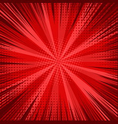 abstract comic bright red background vector image