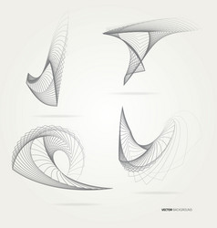 abstract forms from lines vector image