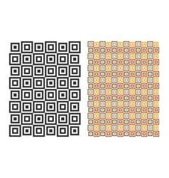 abstract geometric retro pattern vintage design vector image