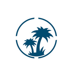abstract palm tree logo icon vector image