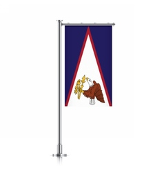 American Samoa flag hanging on a pole vector