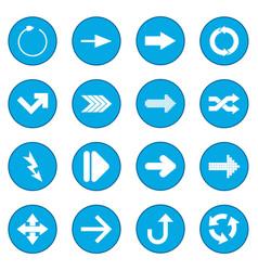 arrow sign black icon blue vector image