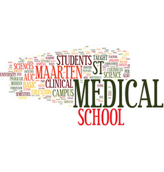 Auc medical school st maarten text background vector