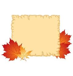 Autumn paper vector