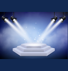 award podium empty trophy event stage with stairs vector image