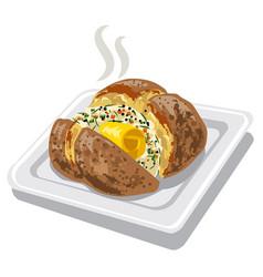 Baked potato vector