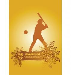 baseball poster4 vector image
