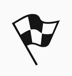 black and white racing flag icon vector image