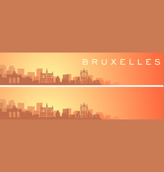 Brussels beautiful skyline scenery banner vector