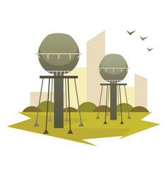 building industrial factory cartoon vector image
