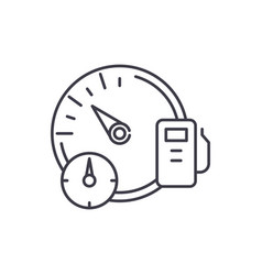 Business dashboard line icon concept business vector