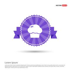 Chef hat icon - purple ribbon banner vector