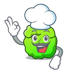 Chef shrub character cartoon style vector